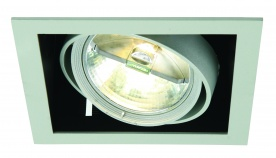 LINEO  SINGLE LIGHT RECESSED Silver Trim w Silver Rings