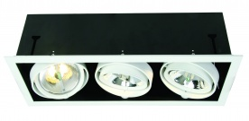 LINEO Multiple 3 light Recessed White Trim w White Rings(body)