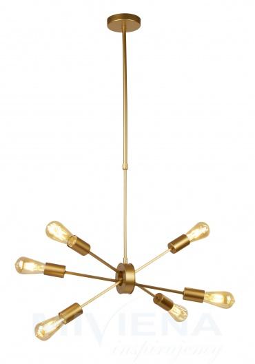 Alpha lampa wisząca 6 złoty matowy